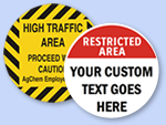 Custom Warehouse Floor Signs