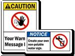 Custom ANSI Signs