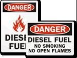Diesel Fuel Signs