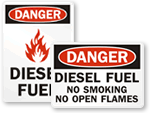 Diesel Fuel No Smoking