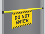 Door Barricade Signs
