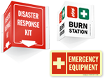 Emergency Supplies Signs