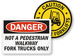 Best Selling Forklift Signs