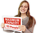Customize and Print Your Own Capacity Sign