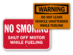 Fueling Safety Signs