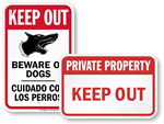 Keep Out Security Signs