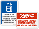 Looking for Elevator Social Distancing Signs?
