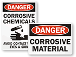 More Corrosive Signs
