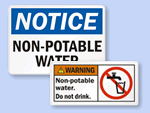 Non-Potable Warnings