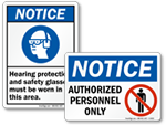 Notice Signs in Stock