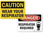 Respirator Required Signs