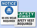 Safety Vest Signs