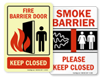 Smoke Barrier Signs