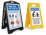 Looking for Social Distancing Signs for Restaurants / Bars?
