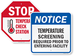Looking for Temperature Check Signs?
