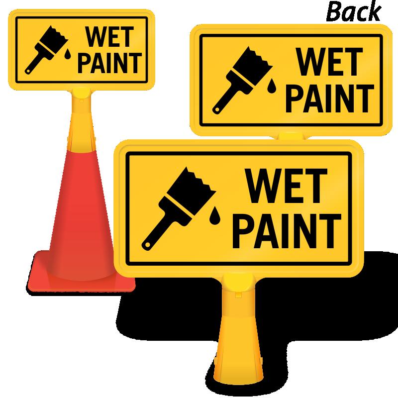 Wet Paint ConeBoss Sign