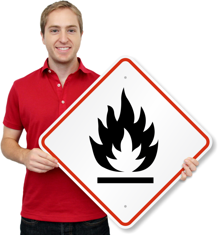 Ghs Flammable Pictogram Sign Diamond Shaped Sku Ghs 101