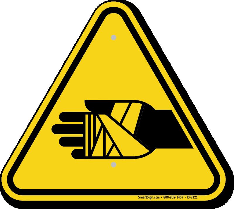 Chemical Burns Hazard Symbol, ISO Warning Sign