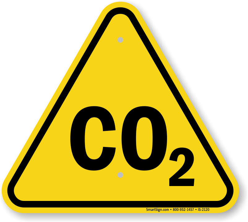 Co2 Symbol, ISO Warning Sign