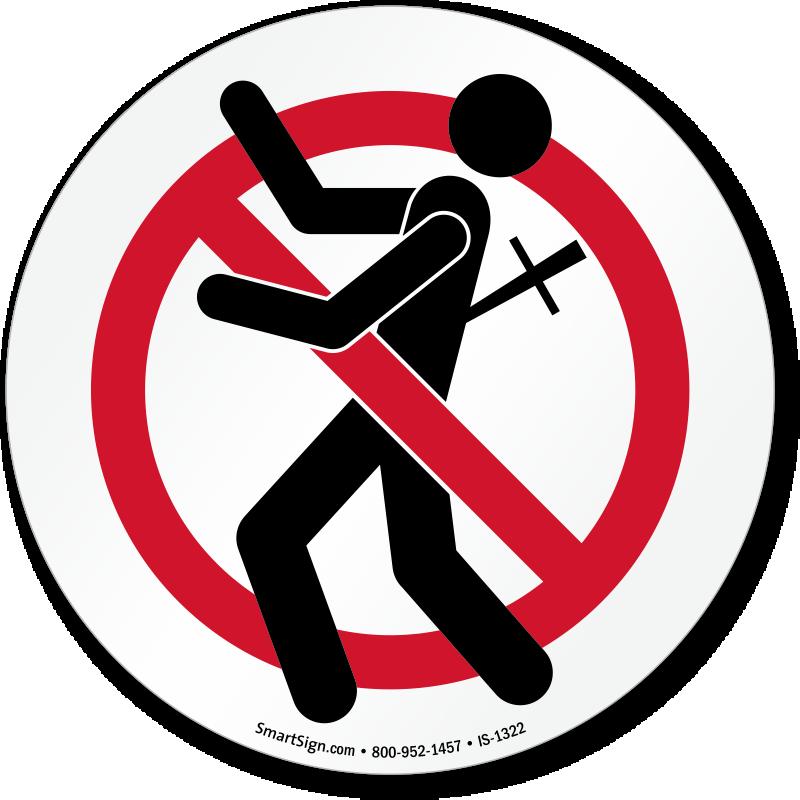 Do Not Backstab Graphic No Backstabbing Sign