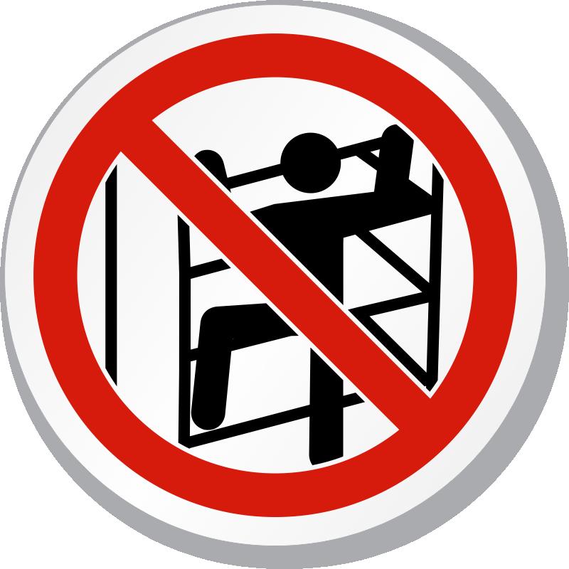 No Climbing Symbol Do Not Climb Shelving Sign Sku Is