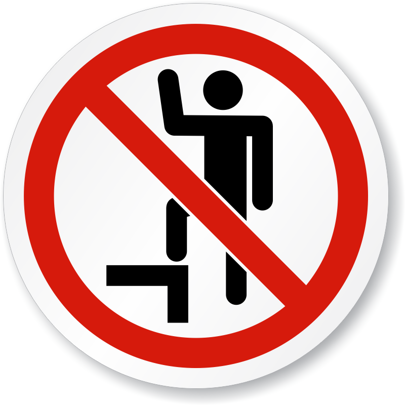 Do Not Step Symbol Iso Prohibition Sign Made In Usa Sku Is 1043