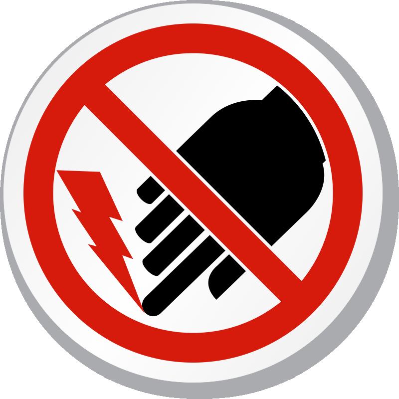 shock hazard signs