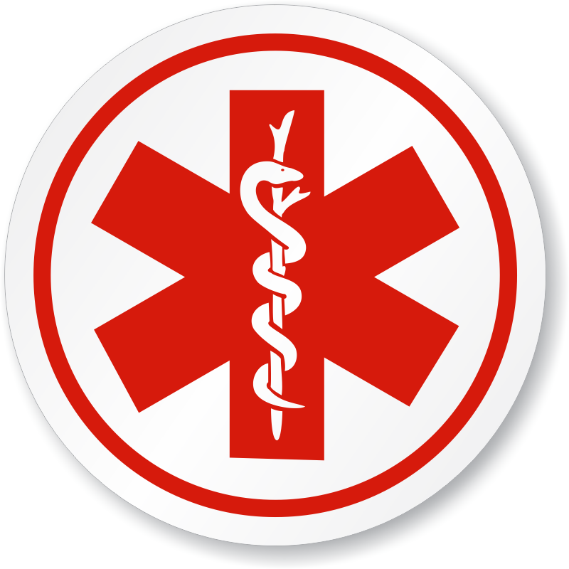 Emergency Response Team/Star Of Life Symbol ISO Sign