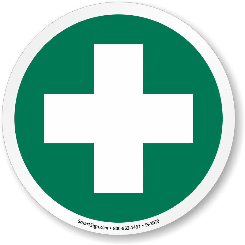 First Aid Station ISO Circle Sign