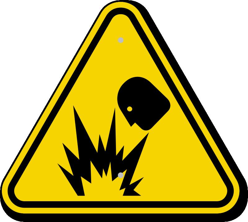 ISO Explosion Hazard Symbol Warning Sign