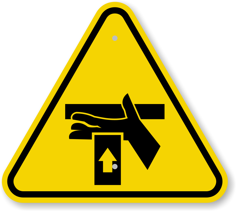 ISO Hand Crush, Force From Below Symbol Sign