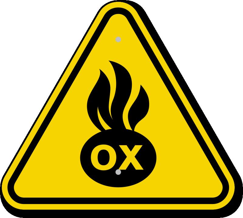 ISO Oxidizer Symbol Warning Sign
