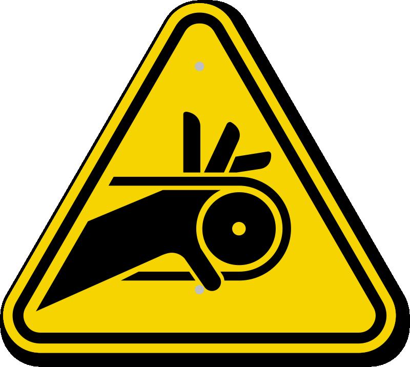ISO Roller Belt Drive Symbol Warning Sign