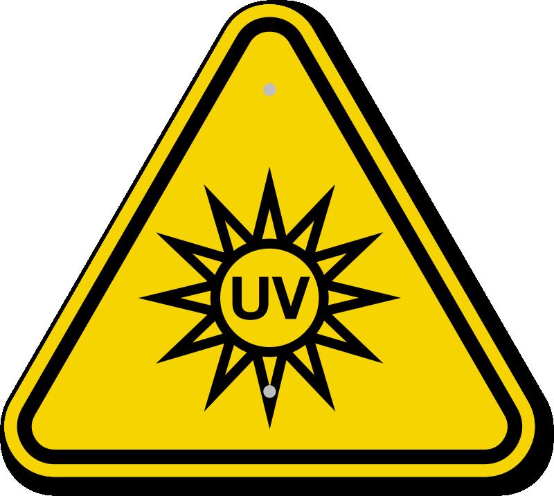 ISO UV Light Hazard Symbol Warning Sign