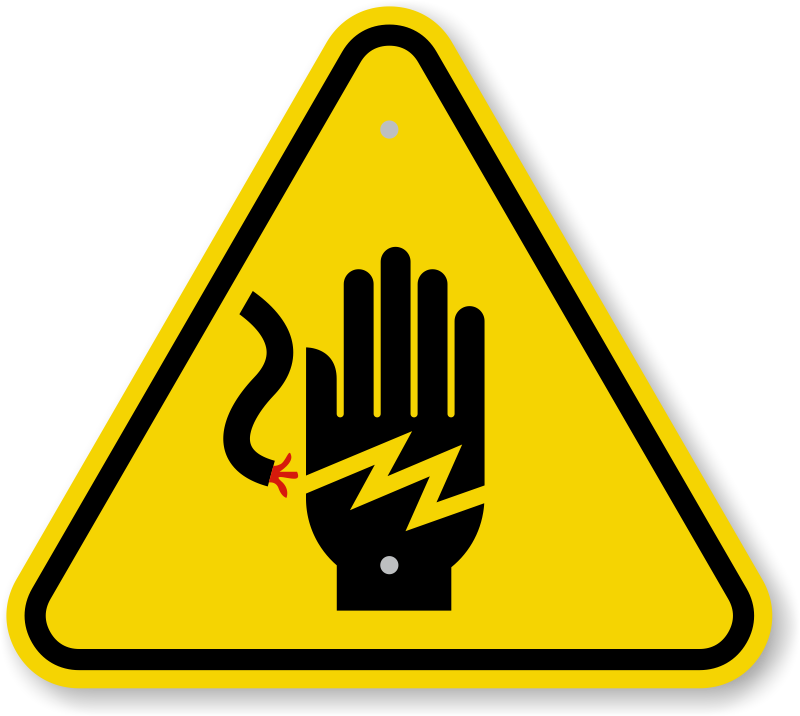 ISO Voltage Hand Shock Symbol Warning Sign