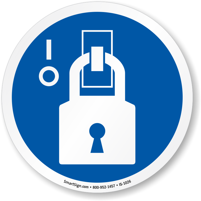 Lock Out ISO Circle Sign