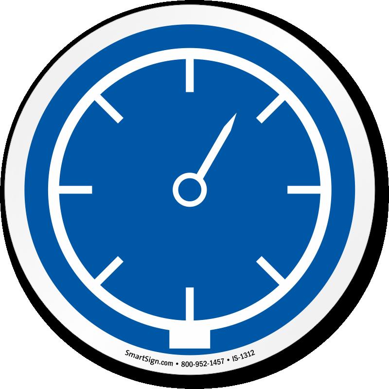 Mandatory Pressure ISO Mandatory Action Circular Symbol Sign