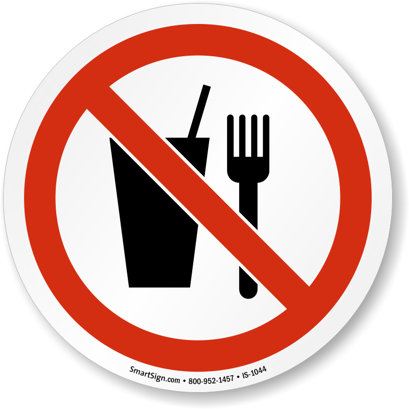 Iso Prohibition Sign No Food Or Drink Symbol Is 1044 Learn More