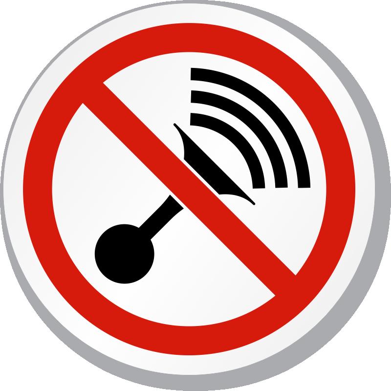 No Horn Symbol ISO Prohibition Circular Sign