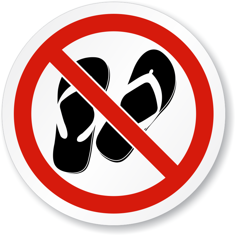 Image result for no open toed shoes