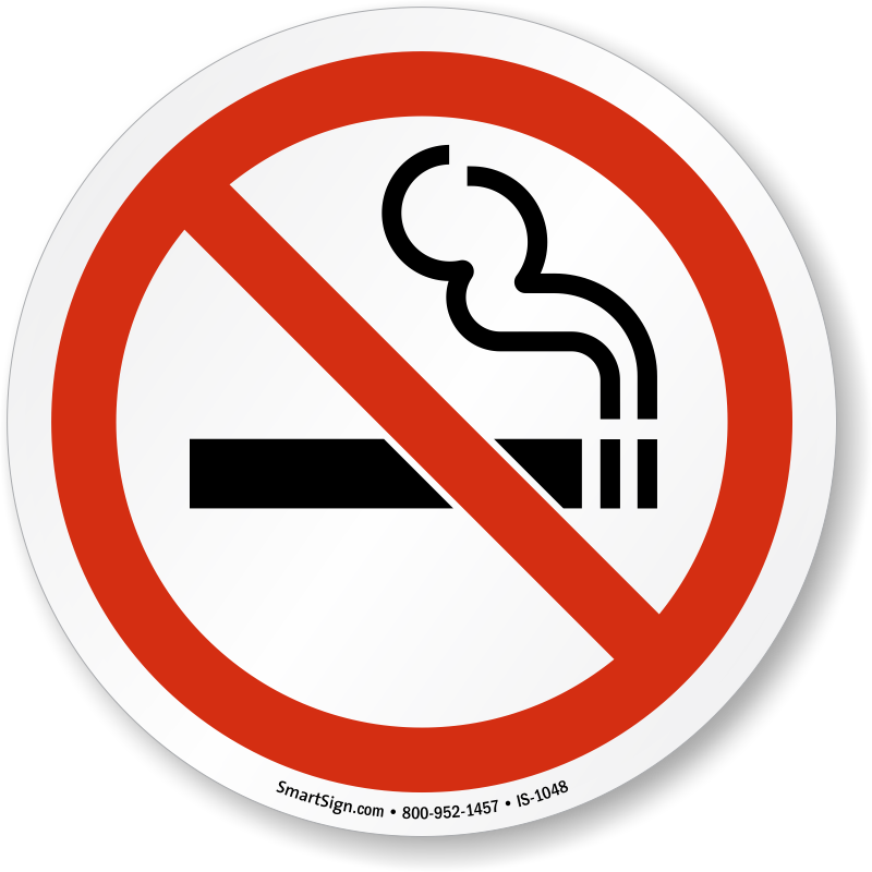 No Smoking Symbol Sign Sku Is 1048 Mysafetysign