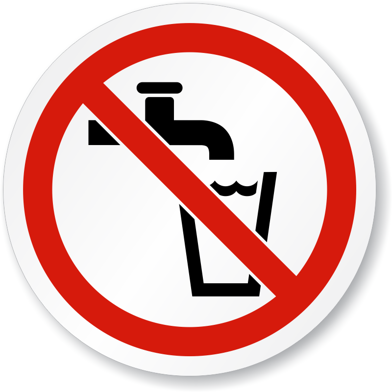 Not Drinking Water Symbol Iso Prohibition Sign Sku Is