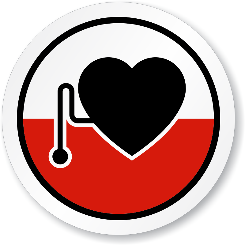 Pacemaker Wearers Symbol ISO Circle Sign