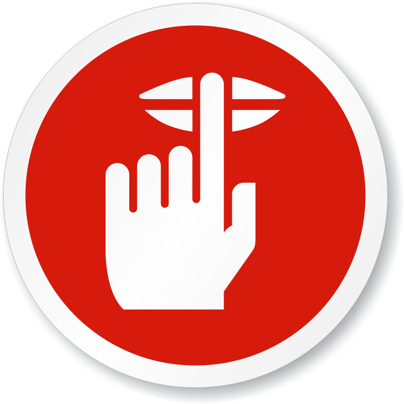 Quiet Please Finger On Lips Symbol ISO Sign, SKU: IS-1247 ...