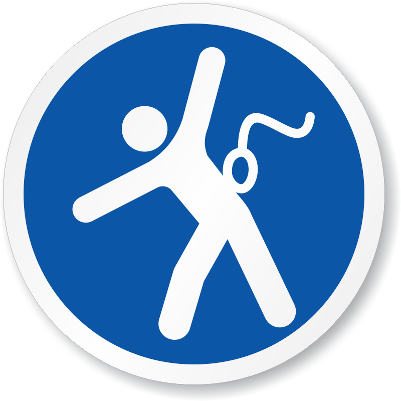 Safety Harness Signs Body Harness Required Signs