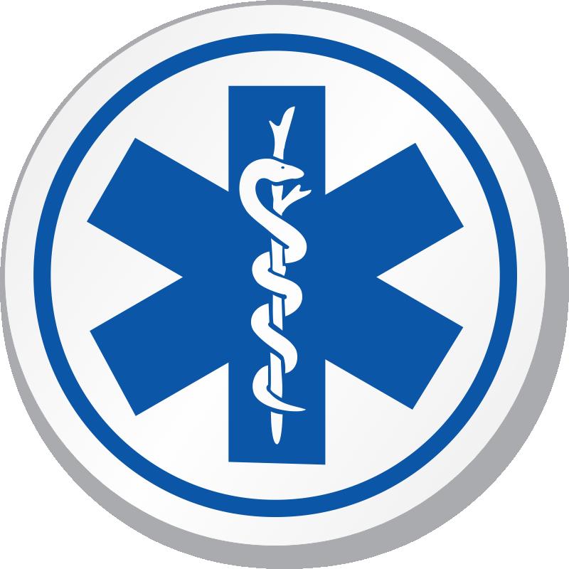 Ems/Star Of Life Symbol ISO Circle Sign