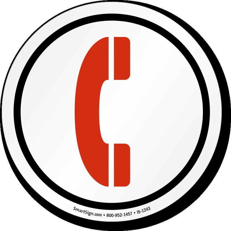 Telephone Symbol ISO Circle Sign