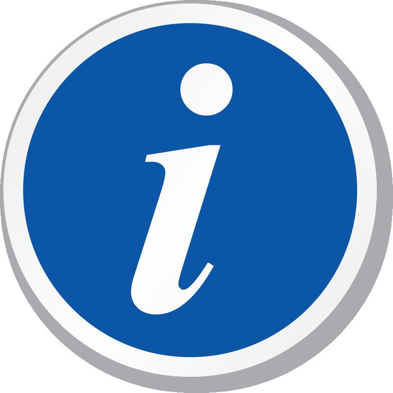 Tourist Information Symbol ISO Circle Sign