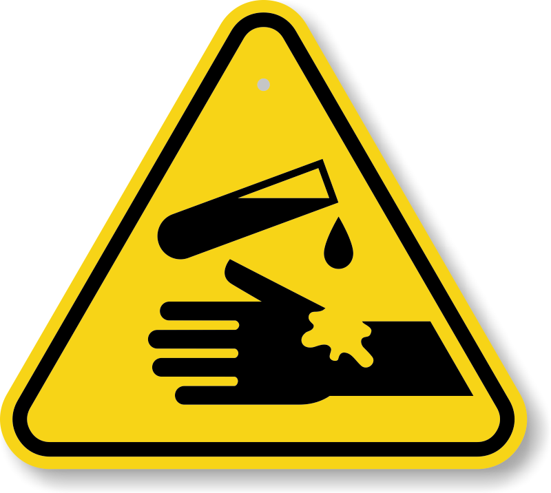 Warning Corrosive Substance Iso Triangle Warning Sign