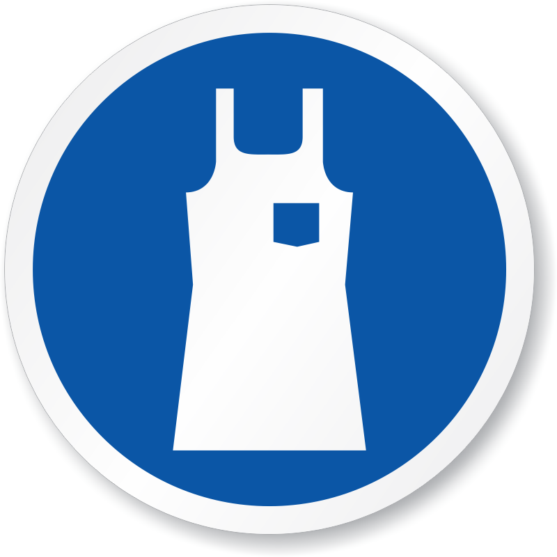 Wear Body Protection Apron Symbol ISO Sign
